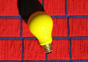 new 40w BUG yellow A19 sign 130V Party LIGHT BULB 40 WATT EXTRAS ship for 7¢*