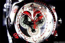Men Invicta Reserve Venom Swiss Movt Master Calendar White Chronograph Watch New