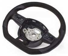 S-LINE Alcantara Flattened Steering Wheel Multifunct. Leather Black Audi A8