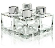 Feel Fragrance Glass Diffuser Bottles with Silver Caps Refillable Diffuser Bo.