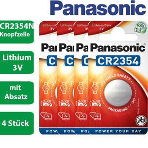 4 x Panasonic CR2354N CR 2354 N mit Absatz Lithium 3 V Batterie Blister 560mAh