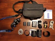 Used Olympus EVOLT E-520 10.0MP DSLR Camera 2 Lenses 14-42mm and 40-300mm