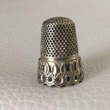 Dé A Coudre Couture Argent Napoléon III XIXè Victorian Silver Thimble