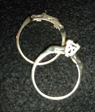 Lot of 2, 14K White Gold Rings, Scrap/ Repairs