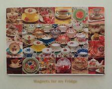 TEA PARTY....CUPS & SAUCERS FRIDGE MAGNET - M573