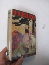 Children's Juvenile Switzerland Swiss Alps Heidi Johanna Spyri Nice Dust Jacket