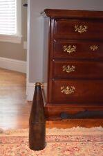 "Metal Rustic Decorative Vase Long Neck Bud Vase 16 1/4"" tall brown"