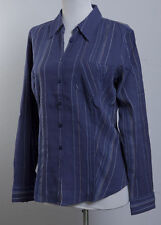 Marks and Spencer Striped Semi Fitted Classic Collar Women's Tops & Shirts