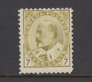 Canada Sc 92 MNH. 1903 7c olive bister KEVII, expertly regummed, F-VF appearing