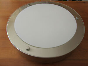 B&Q round glass / frosted glass / chrome effect IP44 fluorescent bathroom light