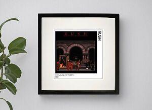 RUSH - MOVING PICTURES  BOX FRAMED PRINT  ARTWORK 3 Sizes Black or White