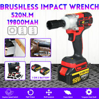 520Nm High Torque 168VF 19800mAh Electric Impact Wrench Brushless Cordless Tool
