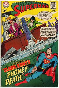 SUPERMAN, Vol. 1 #210 - October 1968 - DC Silver Age Classic!