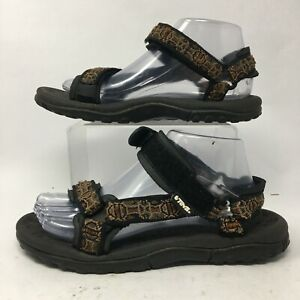 Teva Womens 8 Casual Outdoor Sport Sneakers Brown Hook & Loop Open Toe 1360