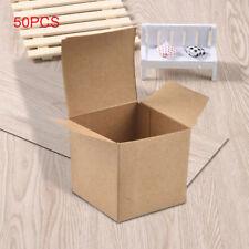 50PCS Kraft Paper Box Folding Candy Box Christmas Wedding Candy Cupcake Box