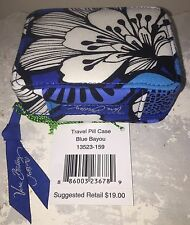 VERA BRADLEY 7 Day Travel Pill Case in BLUE BAYOU Gorgeous Color NWT Great Gift!