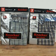 KNOCKER Men's Boxers Full cut leg Open for proper fit and Easy movement 6 Pcs