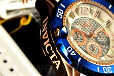 Invicta Pro Diver Gen III Deep White Chrono Dial 50MM RGP White Poly Strap Watch