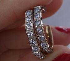 1.20ct Diamond hoop earrings 14k yellow gold