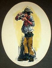 Signed Numbered Limited Edition Print by Zella Strickland  Cowboy Tobacco Idaho