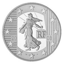 FRANCIA ESTUCHE 1.5 1 1/2 EURO 2008 FRANCIA LA SEMEUSE PLATA REPUBLICA