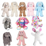 """Bunny Rabbit Plush Soft Toy - Build your own teddy making kit gift/party 20cm/8"""""""