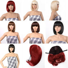 New Bob Style Wig Cosplay Disco Party Short Straight Bang Hair Full wigs Gift