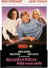 Robert Redford | Daryl Hannah: 4seitiger Flyer Staatsanwälte küsst man nicht '86
