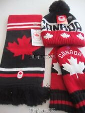 2018 PyeongChang Olympic Team Canada HBC CANADA Tuque Hat Scarf & Red Mittens XL