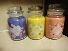 Yankee Candle 2018 Mother's Day Set of 3 Collector's Edition  LARGE 22 oz NWT