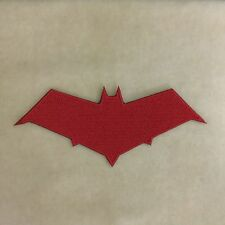 SUPER HERO RED HOOD EMBROIDERY IRON ON PATCH BADGE