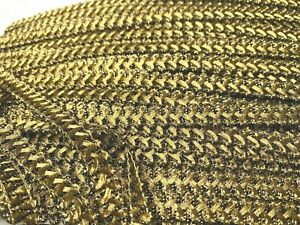 """Vintage Metallic Gold 3/8"""" Scallop Loopy Trim 1yd Made in France"""