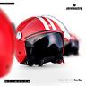 ARMOR AV-63 Fun Red Jet-Helm Vespa Roller Motorrad-Helm Chopper XS S M L XL XXL