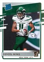 Denzel Mims RC 2020 Donruss Football Rated Rookie Card #323 New York Jets ??????