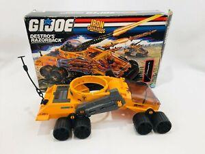 Vintage G.I. Joe Vehicle Destro's Razorback Incomplete w/ Box
