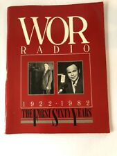 """Vintage Book WOR Radio The First Sixty Years 1922-1982 Paperback 8.5"""" x 11"""""""