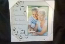 NEW 25th Silver Wedding Anniversary Metal Picture Photo Frame