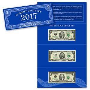 2017 $2 Triple Deuce Set Federal Reserve Bank of Dallas 2009 & 2013 Series