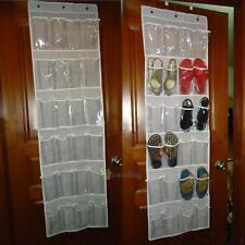 24 Tasche Schuhaufbewahrung Hängeaufbewahrung Hänge Schuh Halter Organizer Neu
