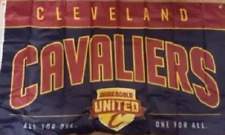 Cleveland Cavaliers Official Wine & Gold United Flag Banner Cavs 3' x 5'