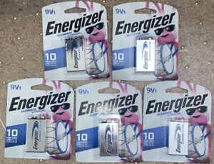 Energizer E300315404 9 V Batteries - Lot Of 5 Separate Single Packs