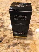New Chanel Le Vernis Nail Polish 337 Noir Ceramic New In Box Black With Sparkles