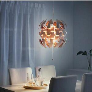 "IKEA PS 2014 ""Death Star"" Ceiling Pendant Lamp Modern 14"" White & Copper"