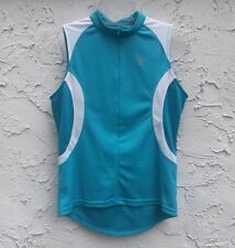 Bontrager Women's Sport Shirt Teal White Sleeveless Cycling Jersey Size M Medium