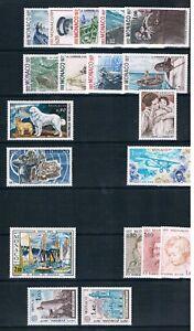 Monaco 1977 Complete Unmounted Mint Commemoratives