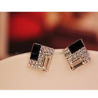 Hot Selling New Fashion Women Lady Elegant Crystal Rhinestone Ear Stud Earrings