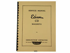 Edison Splitdorf  Model CD Magneto Service & Parts  Manual *1075