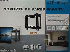 "SOPORTE TV  PARED FIJO Universal,De 17"" a 42"",LCD,PLASMA,LED,22,24,26,30,32,40"