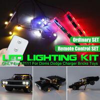 Remote LED Light Kit Fit For LEGO 42111 For Doms Dodge Charger Car Bricks Toy