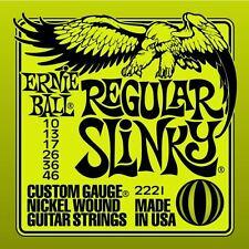 Ernie Ball 2221 Regular Slinky Guitarra Eléctrica Cuerdas 10-46 vendedor Reino Unido PVP 7,99